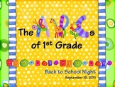 Sample_ABCs of 1st Grade Back to School Night PowerPoint