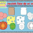 Sandwich Fixins Clip Art Set