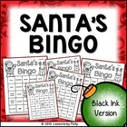 Santa Bingo Black and White Version