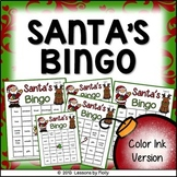 santa bingo color