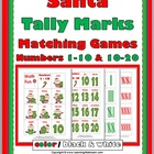 Santa Tally Marks Matching Games (Numbers 1-10 & 10-20)