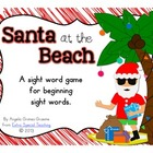Santa at the Beach - A Sight Word Game