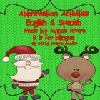 Santa's Abbreviation Activities English & Spanish
