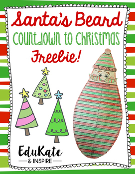 Santa's Beard Countdown to Christmas! {Freebie!}