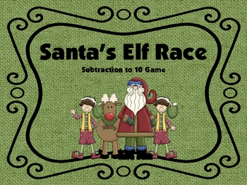 Santa's Elf Race-- Subtraction to 10 Game
