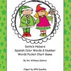 Santa's Helpers Spanish Color Words and Number Words Pocke