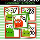 Santa's Monsters Calendar Numbers