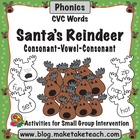 Santa's Reindeer- CVC Words
