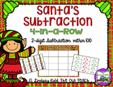 Santa's Subtraction Four-in-a-Row Game
