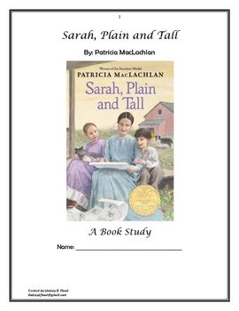 Sarah, Plain and Tall - Unit Study
