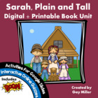 Sarah, Plain and Tall Book Unit