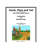 Sarah, Plain and Tall Vocabulary Study