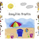 SassyKidz Clip Art at the Beach