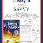 Savvy by Ingrid Law Short Answer & Discuss Questions, Writ