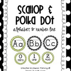 Scallop & Polka Dot Alphabet  & Number Line