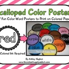 Scalloped Color Posters {free}