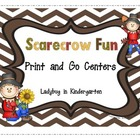 Scarecrow Fun Literacy and Math Centers