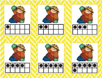 Scarecrow Ten Frame Matching Game (1-10)