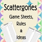 Scattergories Game Sheets, Rules & Ideas -Themes Emergency