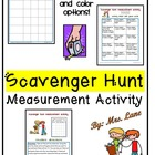 Scavenger Hunt Measurement Activity (Customary and Metric Units)