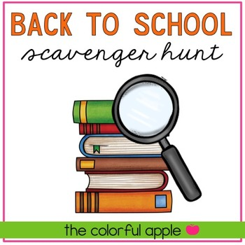 Scavenger Hunt for Back-To-School