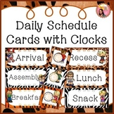 Schedule Cards - Jungle / Safari theme