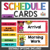 Schedule Cards Rainbow Scribble Themed