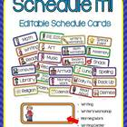 Schedule It! (Primary Schedule Cards)
