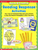Scholastic Quick and creative Reading Response Activities