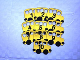 School Bus Number Ordering - Preschool Activity
