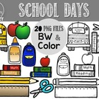 School Days Clipart (For Personal & Commercial Use)