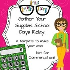 School Days Relay template - Personal Use Only!