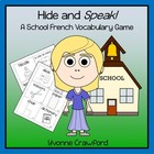 School French Vocabulary Game - Hide and Speak