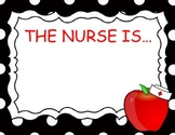 School Nurse In Out Sign