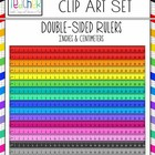 School Rulers Clip Art: Double Sided with Inches and Centimeters