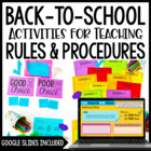 School Rules! {And Procedures, Too!} Activities and Printa
