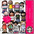 School Subject kidlettes bundle by melonheadz
