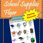 School Supply Sales Flyer