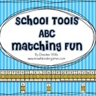 School Tools ABC Matching Fun
