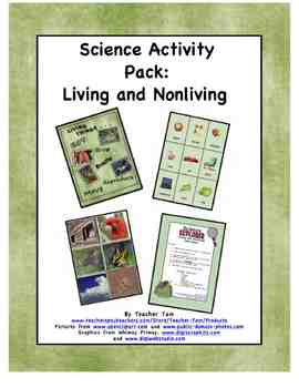Science Activity Pack:  Living and Nonliving