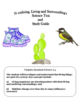 Science: Assessment & Study Guide for Living and Nonliving