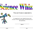 Science Certificate Award