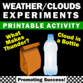Weather Cloud in a Bottle Experiments Make Thunder Science