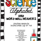 Science Cursive Alphabet