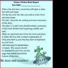 Science Fiction Book Report / Book Project