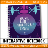 Science Interactive Notebook - Sound, Light, Mirrors and Lenses