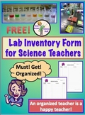 Science Lab Inventory Form, All Grades, Free