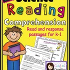 Science Reading Comprehension Reading Response Intergrate