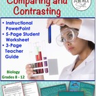 Science Skills Worksheet and PowerPoint: Comparing and Con