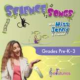 Science Songs CD-Book Set - 18 K-3 Songs + Karaoke Version